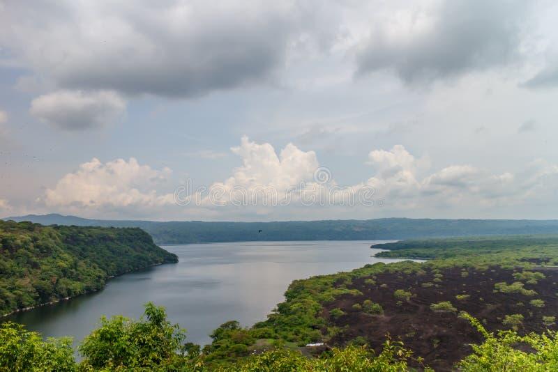 Landscape of Masaya lake from Nicaragua. Masaya Lagoon view from Nicaragua stock images