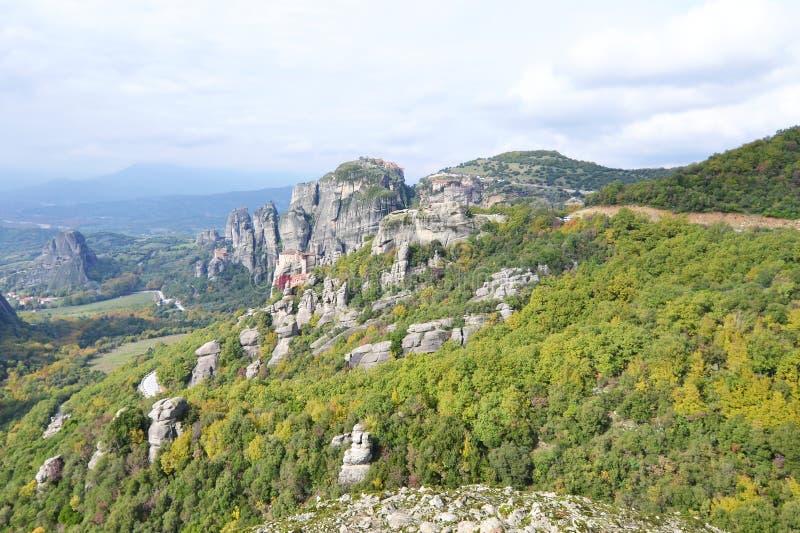 Landscape of Meteora Kalabaka Greece royalty free stock photography