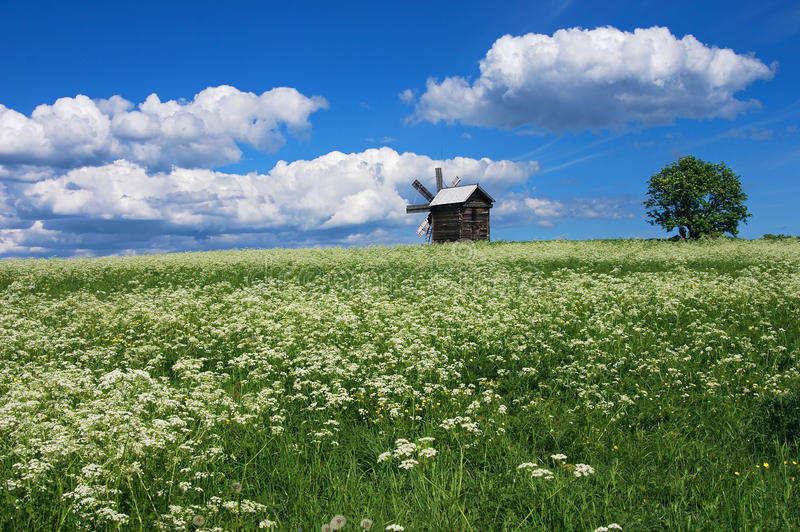 Download Landscape with mill stock photo. Image of onega, outdoor - 12759094