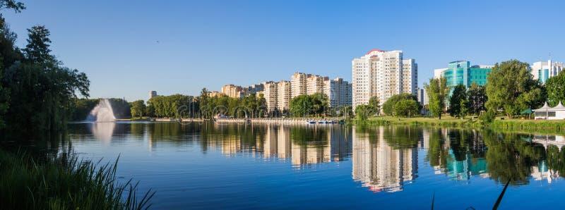 Landscape. Minsk City, water, sky stock photo