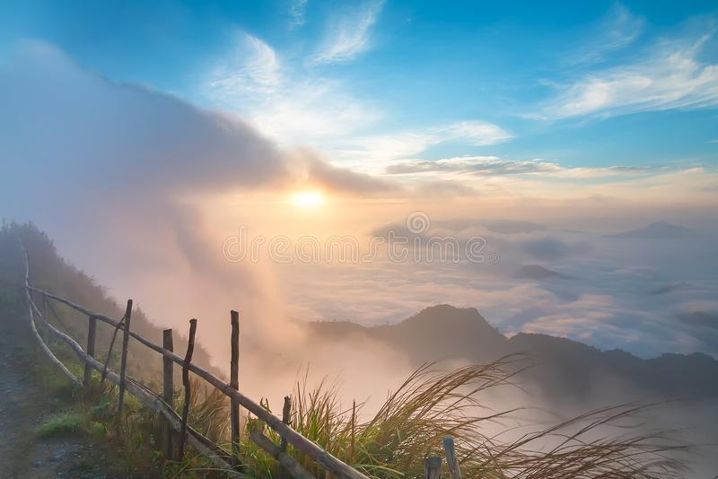 Download Beautiful Landscape And The Mist In The Morning In Thailand Stock Photo - Image of cloud, black: 106732344