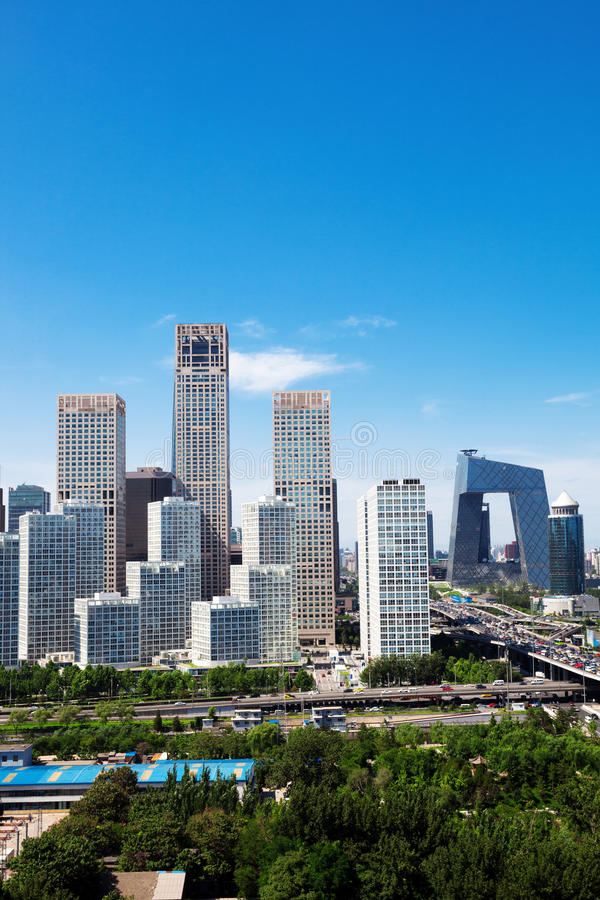 Landscape of modern city. Beijing royalty free stock photo