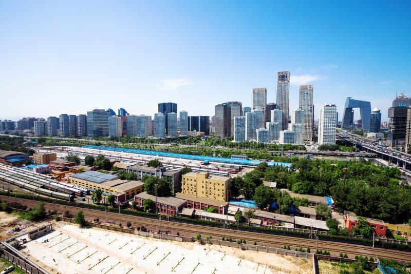 Landscape of modern city stock photo
