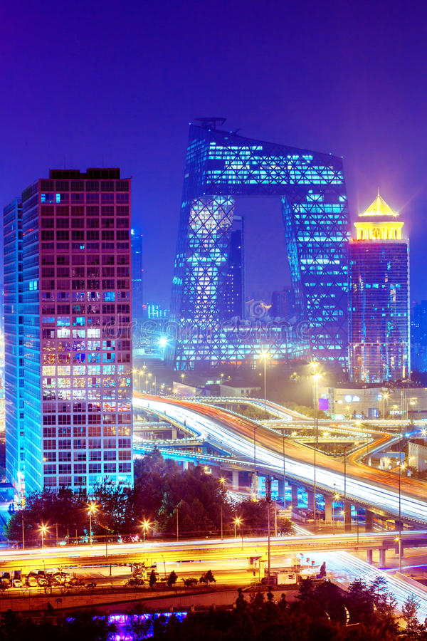 Landscape of modern city. Beijing royalty free stock images