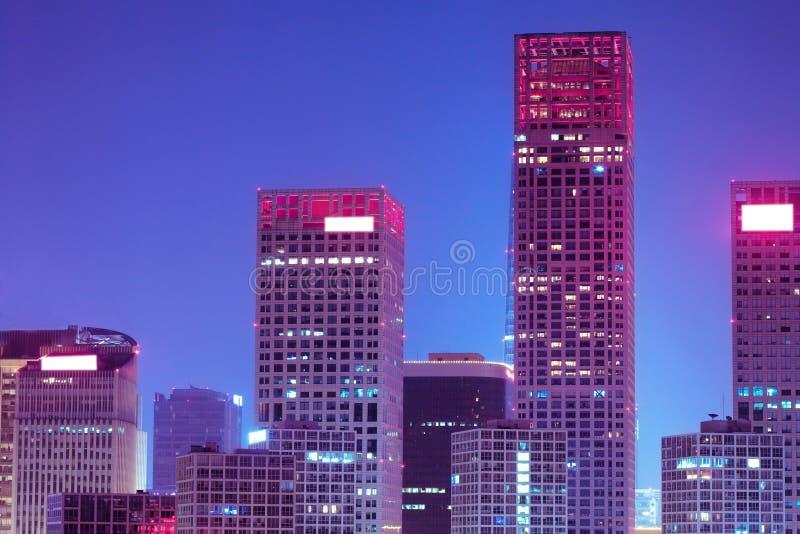 Landscape of modern city. Beijing stock photography
