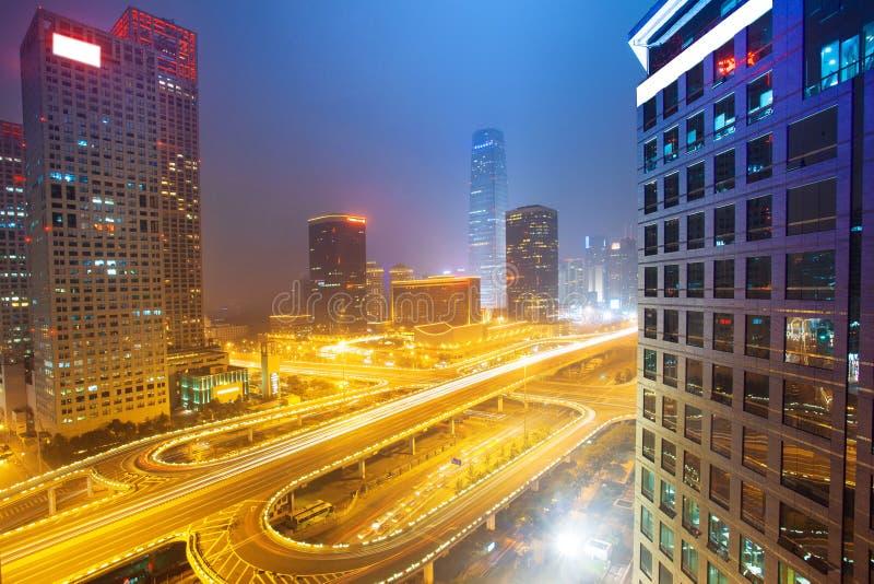 Landscape of modern city ,beijing stock photo