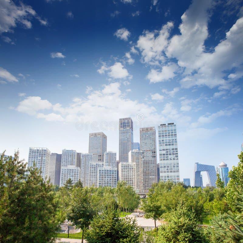 Landscape of modern city,beijing stock images