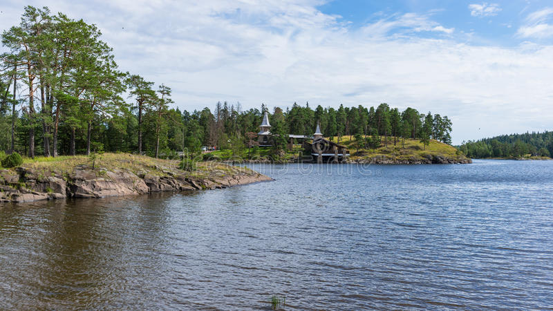 Landscape Monastery Bay. royalty free stock photo
