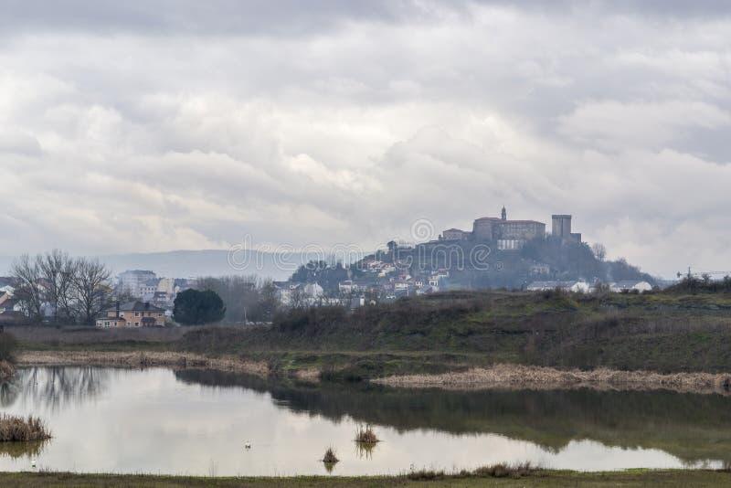 Landscape of Monforte de Lemos, Galicia, Spain stock photography
