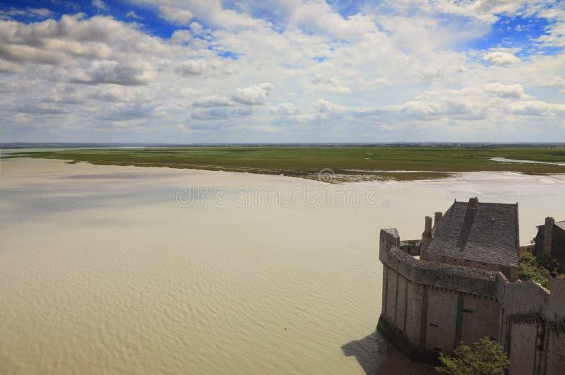 Landscape on Mont Saint Michel royalty free stock photos