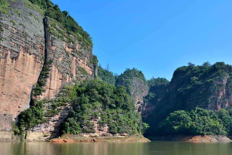 Landscape Of Mountain And Lake In Fujian JinHu, China Royalty Free Stock Photo