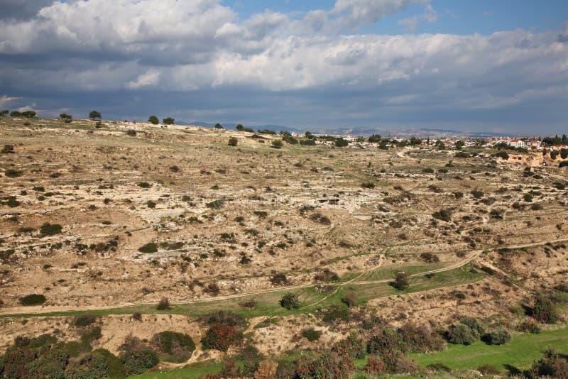 Landscape. Mountain near Kourion. Cyprus royalty free stock photography