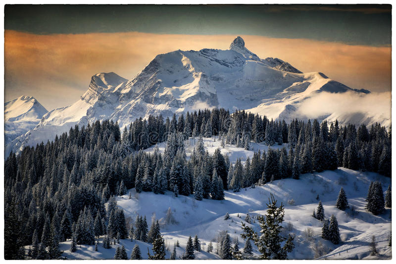 Landscape of Mountain stock images