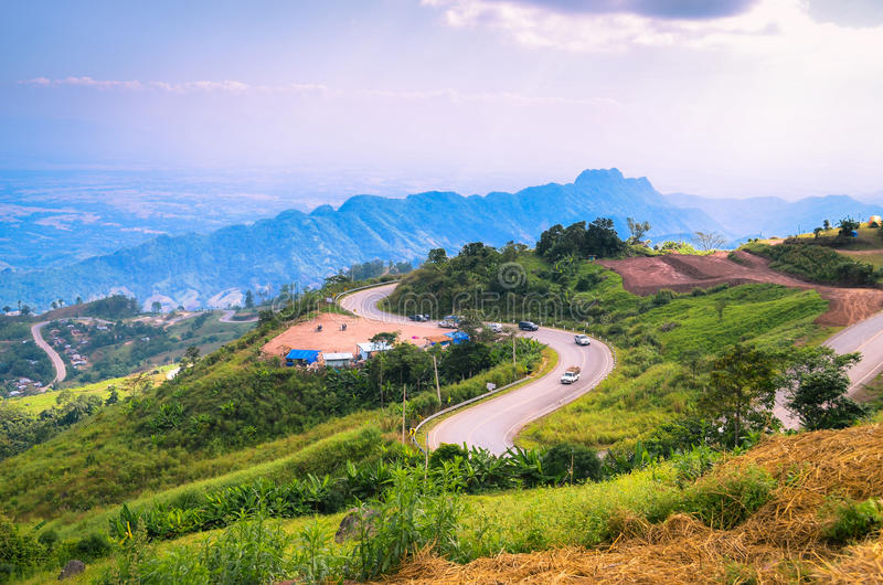 Landscape mountain in Thailand stock photo