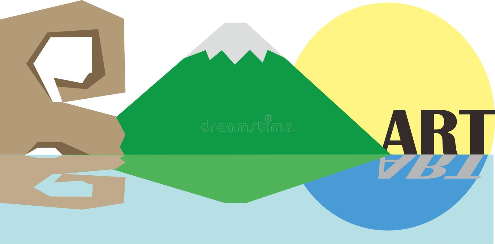 landscape mountain tropical Island panorama royalty free stock images