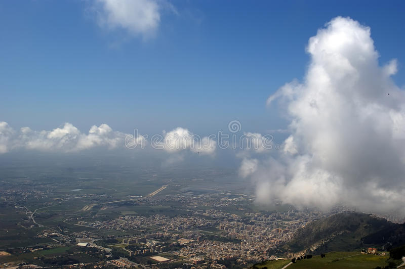 Landscape of a mountain valley with a aerial view