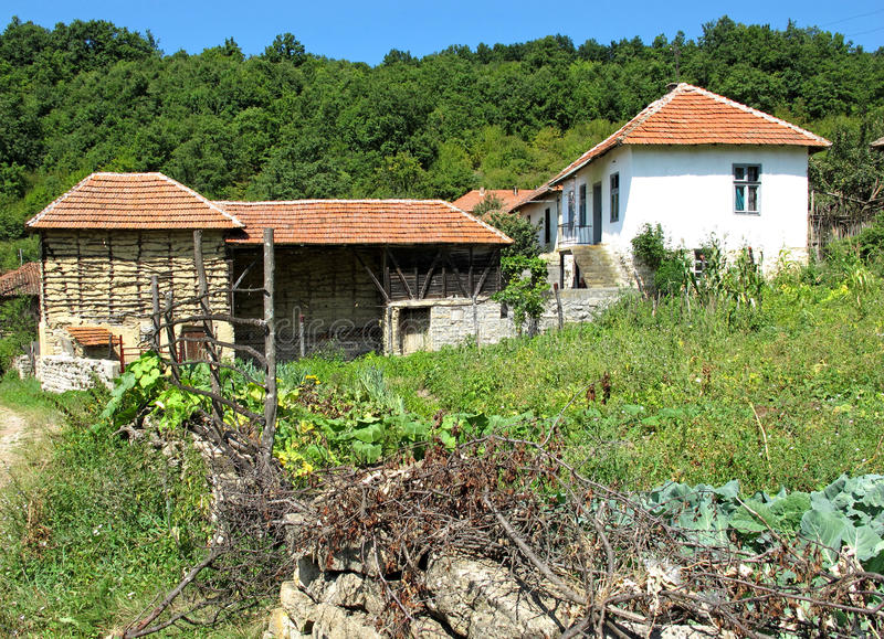 Download Landscape Of A Mountain Village Farmhouses In Serbia Stock Photo