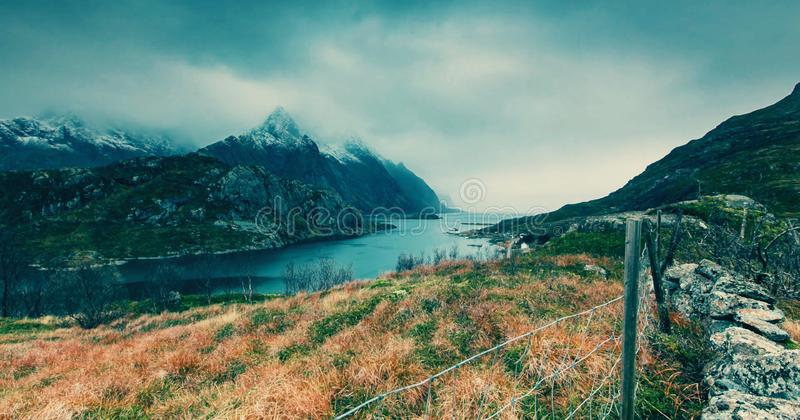 Landscape in the mountains stock photos