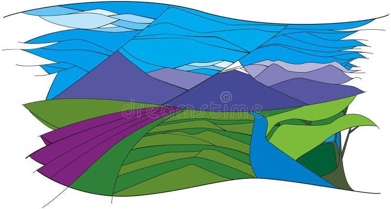 Landscape_mountains illustrazione vettoriale