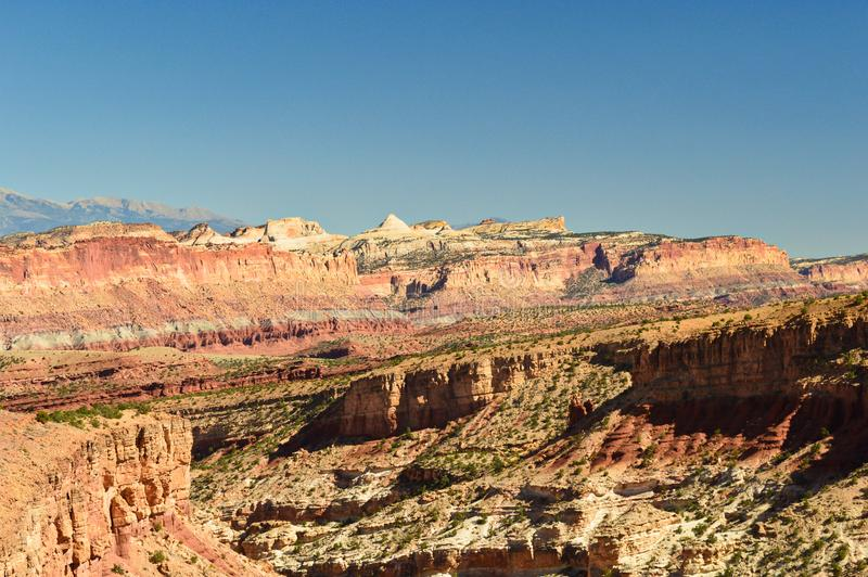 Landscape and mountains in the Capitol Reef stock images