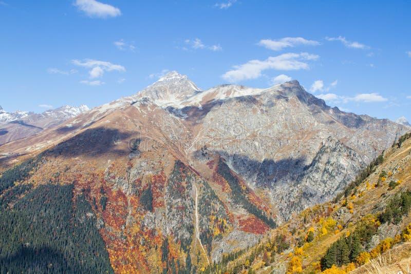 Landscape of mountains Caucasus region in Russia stock image