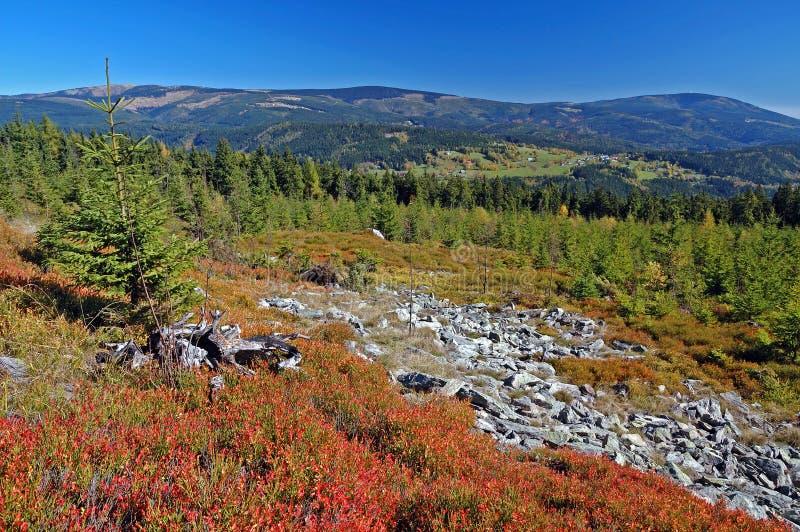 Landscape in mountains Krkonose, Czech Republic