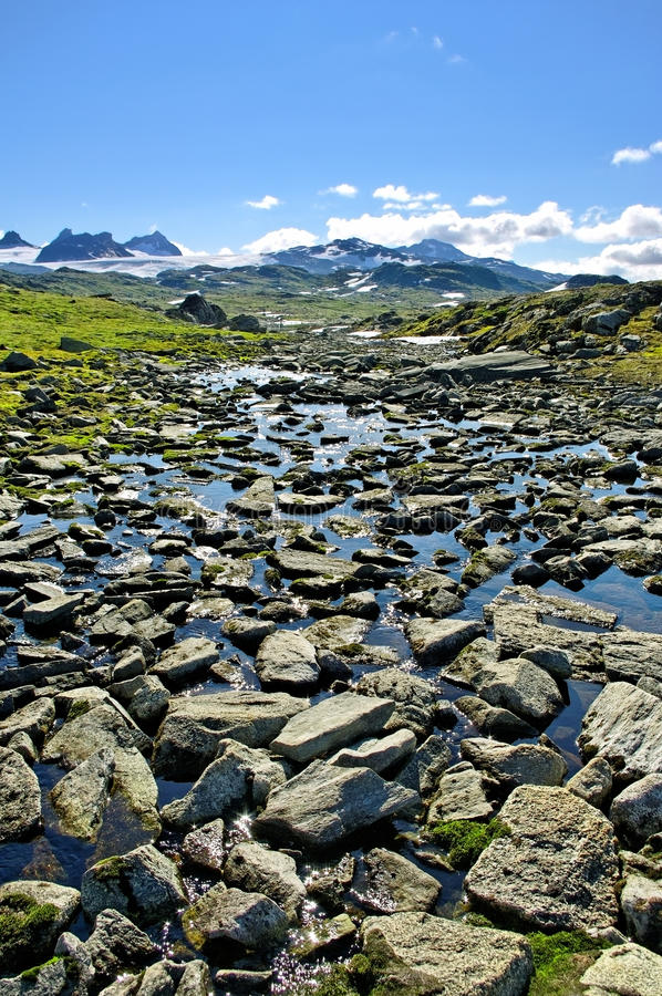 Landscape mountains of Norway. royalty free stock image