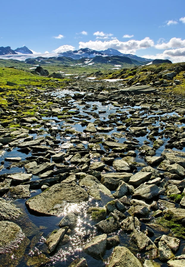 Landscape mountains of Norway. royalty free stock photos