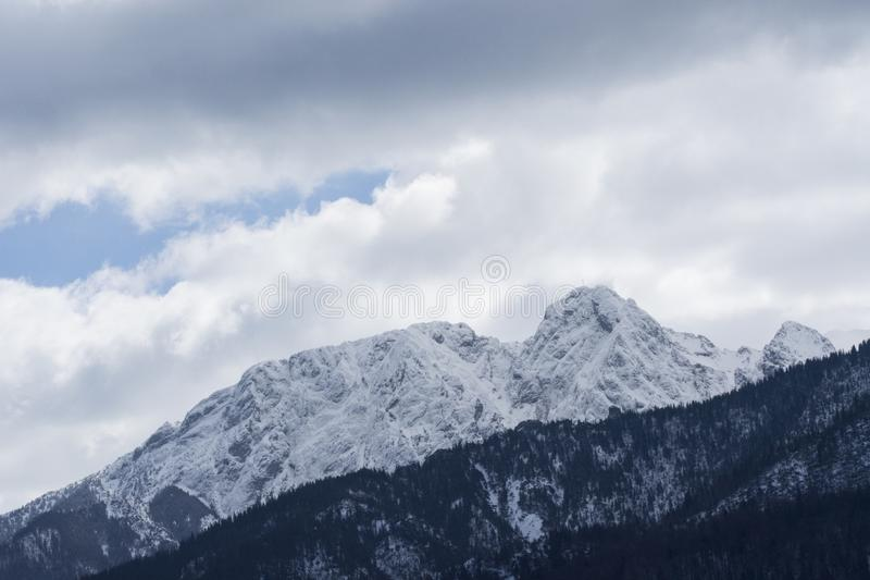 Landscape Mountains in winter Poland royalty free stock image