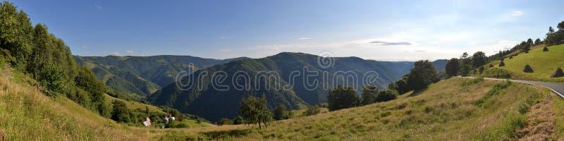Landscape with Muntele Rece, Romania. stock image