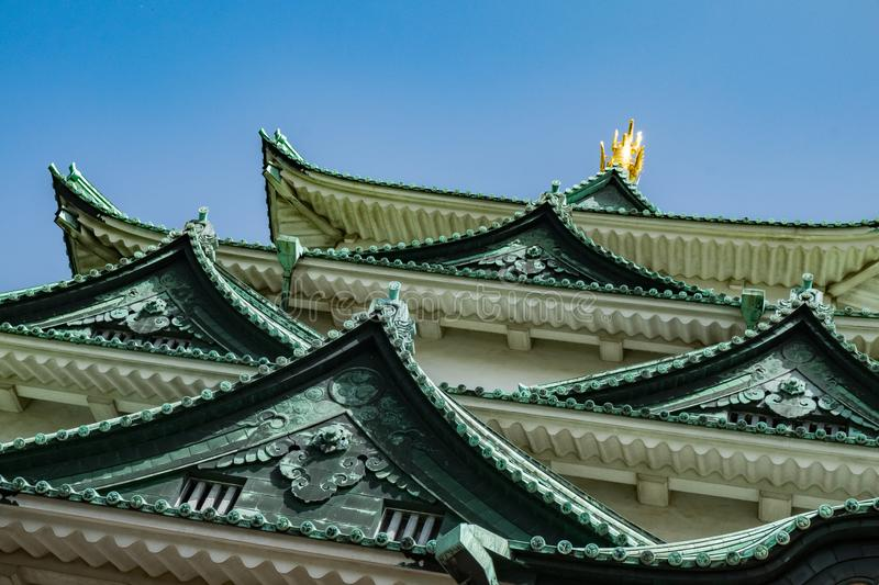 Landscape of Nagoya castle, Japan. Landscape of Nagoya castle, one of the most famous castle in Japan. Locate in the central of Nagoya city royalty free stock photography