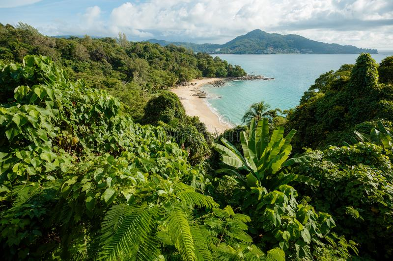 Landscape of natural sea beach on Phuket, Thailand. Travel Thailand, Beautiful destination place Asia, Summer holiday outdoor stock images