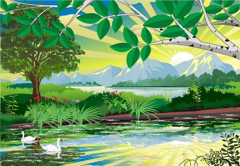 Landscape. Nature background. Vector illustration for design web design development stock illustration