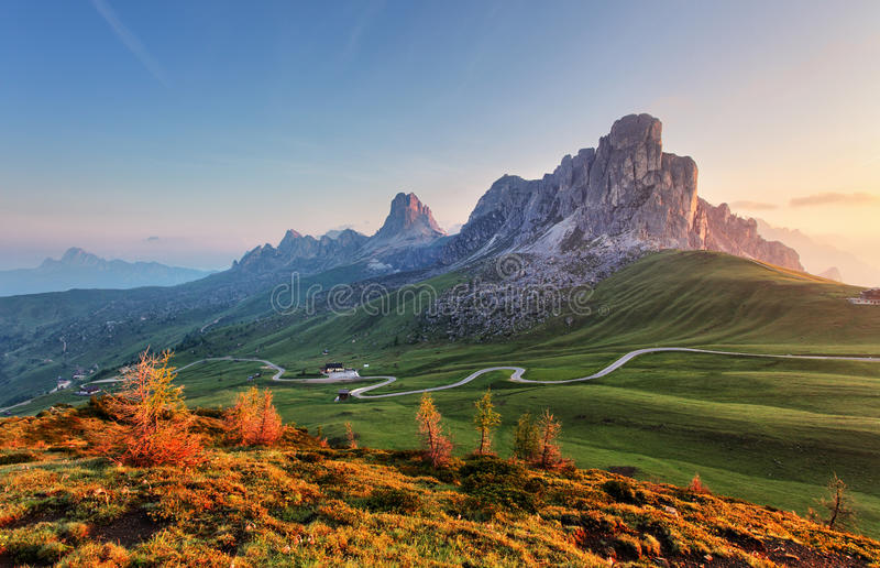 Download Landscape Nature Mountan In Alps, Dolomites, Giau. Stock Image - Image of alps, giau: 55992213