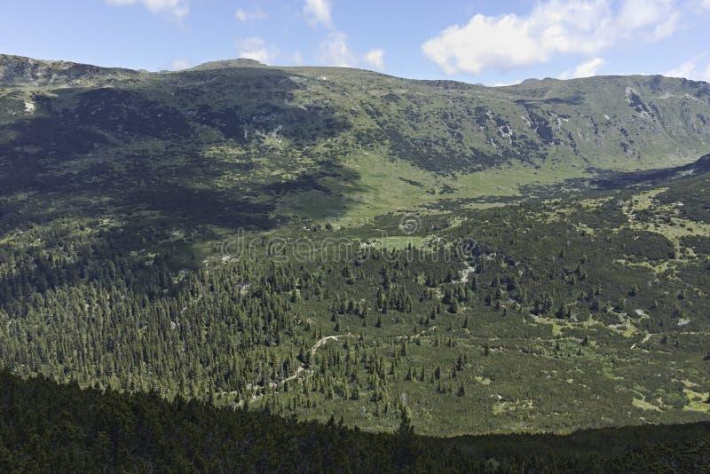 Landscape near The Fish Lakes Ribni Ezera, Rila mountain. Bulgaria stock photos