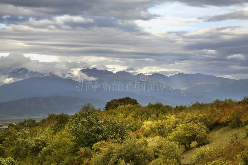 Landscape near Ikalto (Iqalto). Kakheti. Georgia.  royalty free stock images