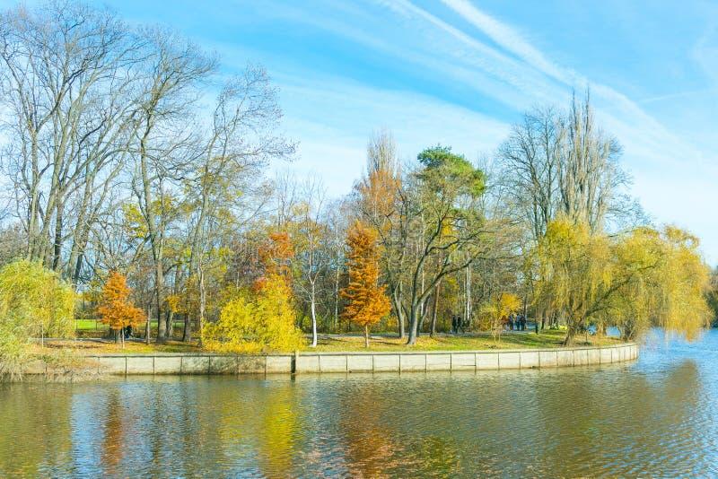 Landscape near the lake stock photo