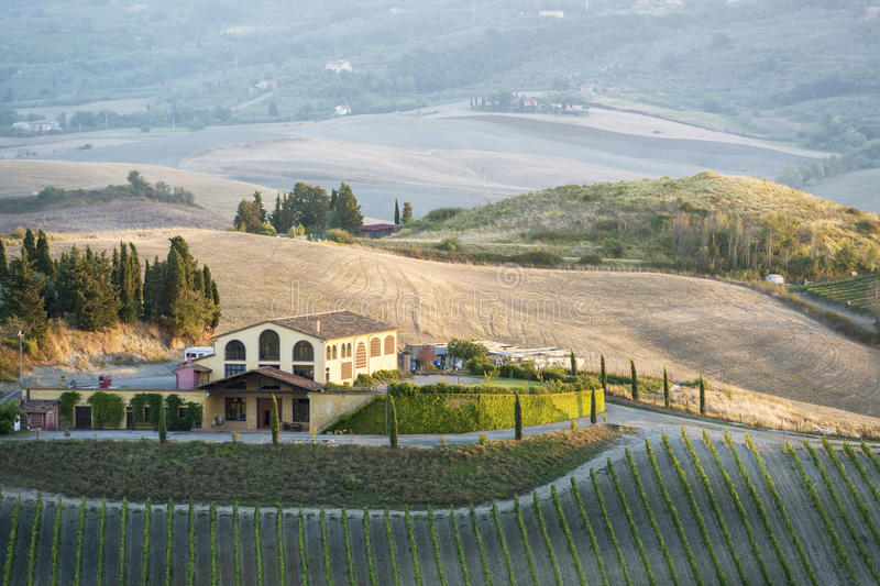 Download Landscape near Pienza stock photo. Image of cypress, picturesque - 38187490