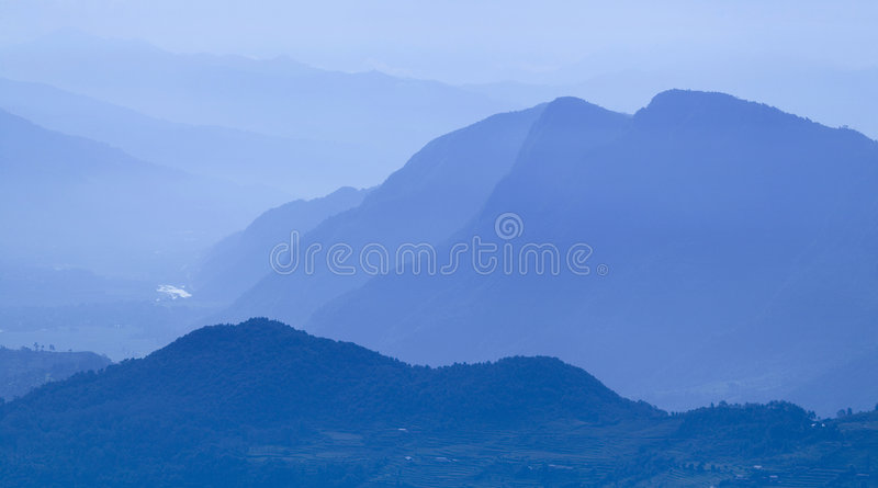Landscape near Pokhara royalty free stock photography