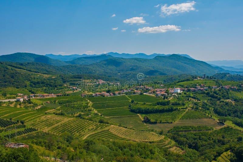 Landscape Near Smartno. The landscape near the historic Slovenian village of Smartno in the Goriska Brda area in Primorska stock images