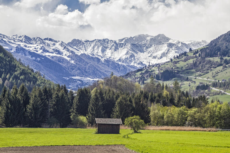 Landscape near Sterzing. Spring in the Eisack Valley near Sterzing royalty free stock photography
