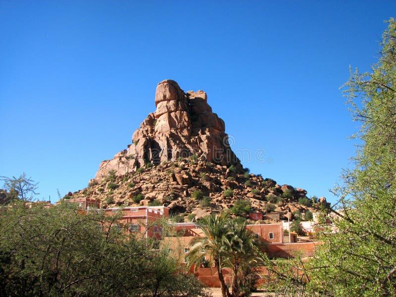 Landscape near Tafraoute in Morocco stock photography