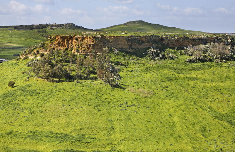 Landscape near Victoria. Gozo island. Malta stock photos