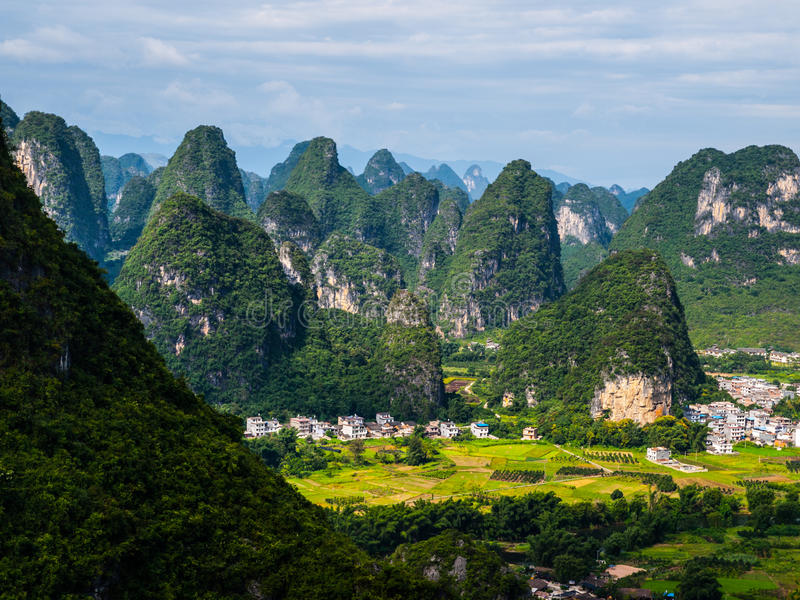 Landscape near Yangshuo. (Guangxi, China stock photography