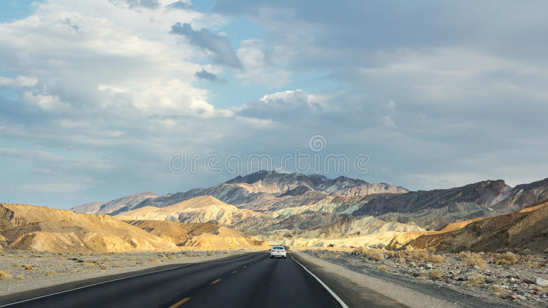 Landscape near Zabriskie point during sunset in Death Valley NP US stock images