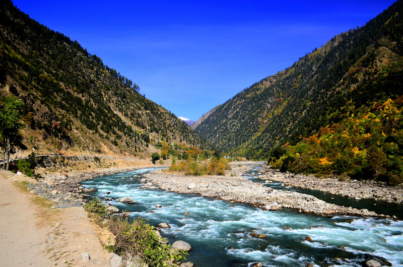 Landscape of Neelum Valley kashmir Pakistan!. Neelum Valley is situated at the North & North-East of Muzaffarabad, running parallel to Kaghan Valley. The two royalty free stock photography