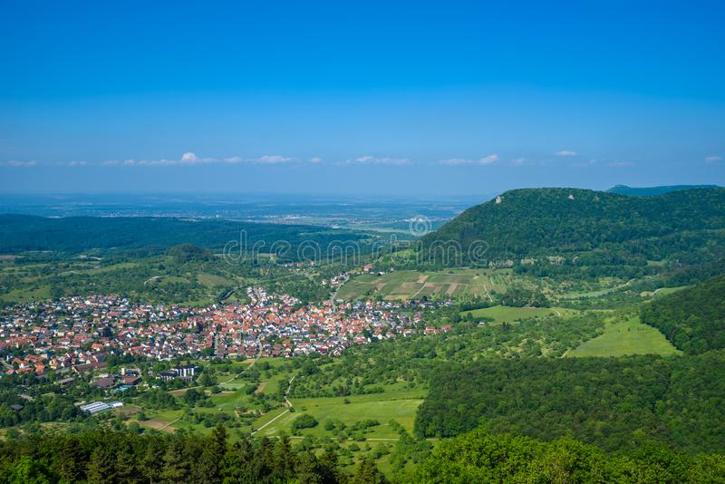 Landscape at Neuffen, Swabian Alb, Germany royalty free stock images