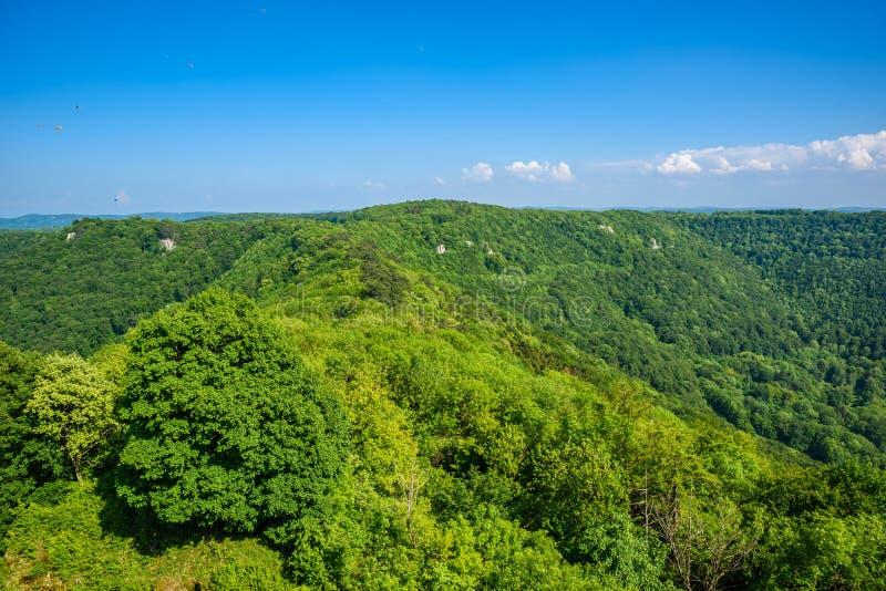 Landscape at Neuffen, Swabian Alb, Germany royalty free stock photos
