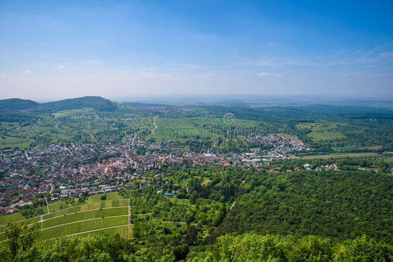 Landscape at Neuffen, Swabian Alb, Germany stock photography
