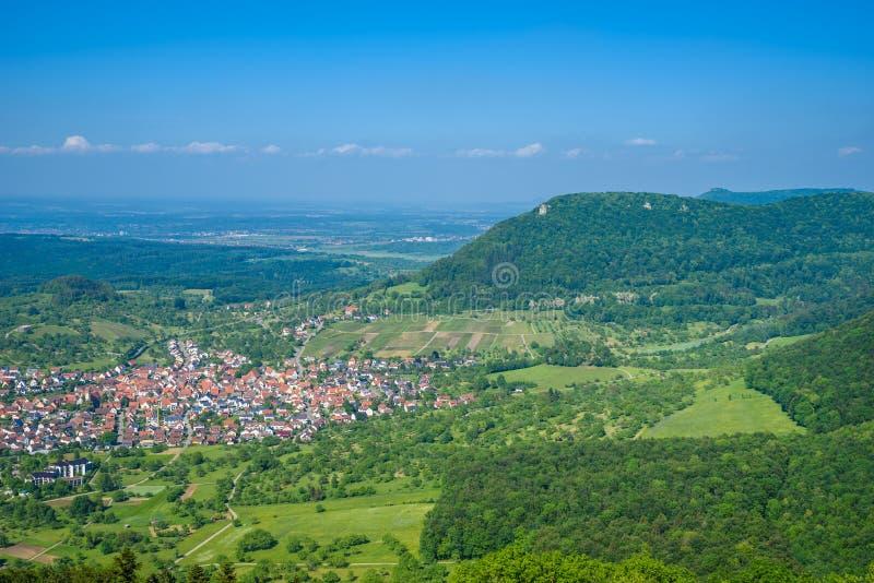 Landscape at Neuffen, Swabian Alb, Germany royalty free stock photography